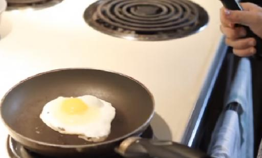 How do you cook an over easy egg?
