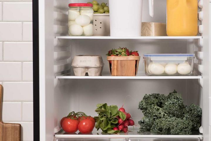 eggs in a carton in the fridge
